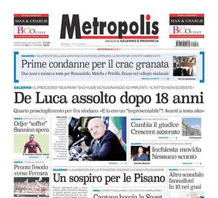 Metropolis, finanziatore aggredisce i giornalisti. La solidarietà dell'Ordine e del Sindacato
