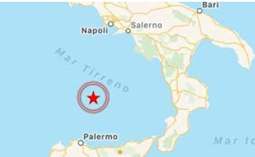 Sisma : Violenta scossa registrata nei pressi del Marsili