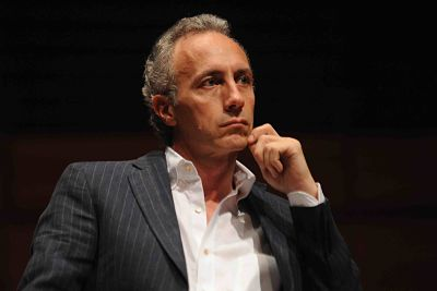 TURIN, ITALY - MAY 12:  Marco Travaglio attends a press conference during the 2012 International Book Fair of Torino (Salone Internazionale del Libro di Torino) on May 12, 2012 in Turin, Italy.  (Photo by Valerio Pennicino/Getty Images)