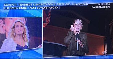 Scafati: tradisce il marito con il prete, troupe Canale 5 aggredita