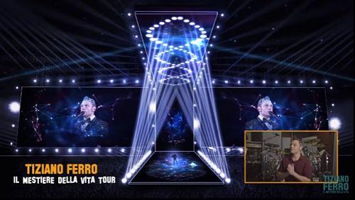 Tiziano Ferro svela il palco del tour che debutta l'11 giugno