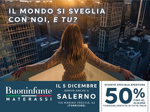 Materassi Salerno.Dal 5 Dicembre Buoninfante Materassi Arriva A Salerno
