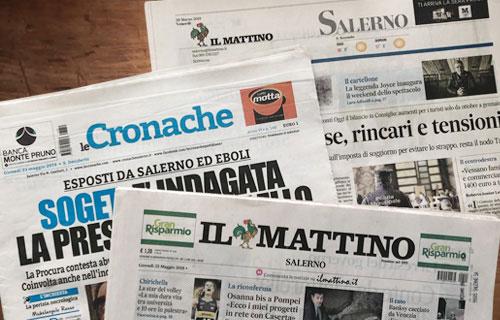 Rassegna Stampa I Giornali Salernitani In Edicola Venerdi 31