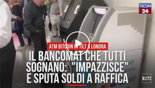Clamoroso: il bancomat impazzisce e sputa soldi. Ecco dove