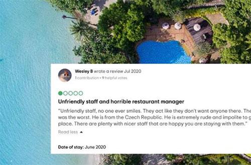 Boccia un resort su Tripadvisor, rischia il carcere