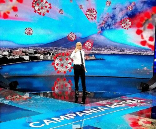 Il Vesuvio che erutta Covid, bufera su Giletti