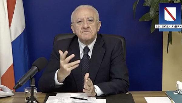 Covid: in Campania quasi 2800 positivi, curva all'11,58%